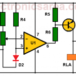Over-temperature alarm using operational amplifier