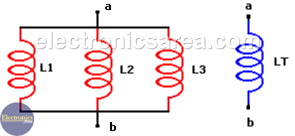 Inductors in parallel and Equivalent parallel inductor - Series and Parallel Inductors
