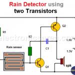 Rain Detector using two Transistors