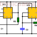 Fridge door alarm circuit