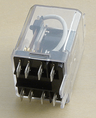 General purpose relay, 60 hz 110 volt coil, DPDT contacts 25A at 300V AC