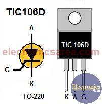 SCR TIC106D Pinout