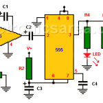 Sound Activated Flash trigger using 555 and LM386