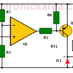 Temperature alarm circuit with Op. Amp.