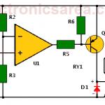 Temperature alarm circuit with Op. Amp.