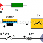Over temperature alarm circuit using Thermostat