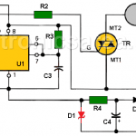 Time Delay circuit using Triac and 555 timer