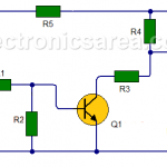 Time Delay Light switch Circuit Using Transistors