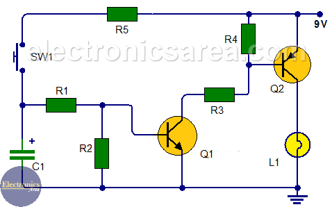Time Delay Light Switch Circuit