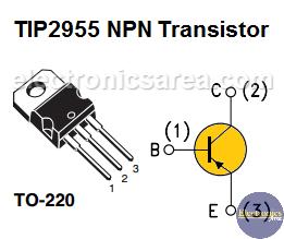 TIP2955 PNP Transistor Pinout