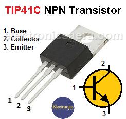 TIP41C NPN transistor Pinout