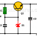 Transistor - Zener Voltage regulator circuit