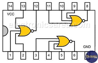 7427 - Triple 3-input TTL NOR gate