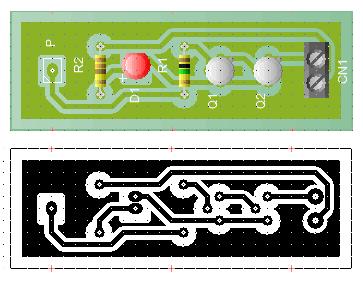 Two Transistor Logic Probe PCB
