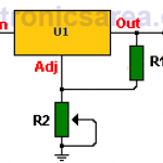 LM317 Variable Voltage Regulator Circuit