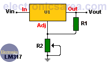 lm317 variable voltage regulator circuit diagram electronics arealm317 variable voltage regulator circuit diagram