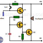Water Level Alarm with Three Transistors