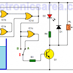 Water level controller circuit using CD4001