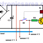 Water Level Controller Circuit using Transistor and Relay