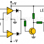 Window comparator using op amps