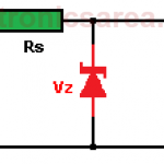 Zener diode Voltage regulator Circuit Design - Diagram